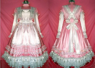 maid pink frilly long dress.jpg